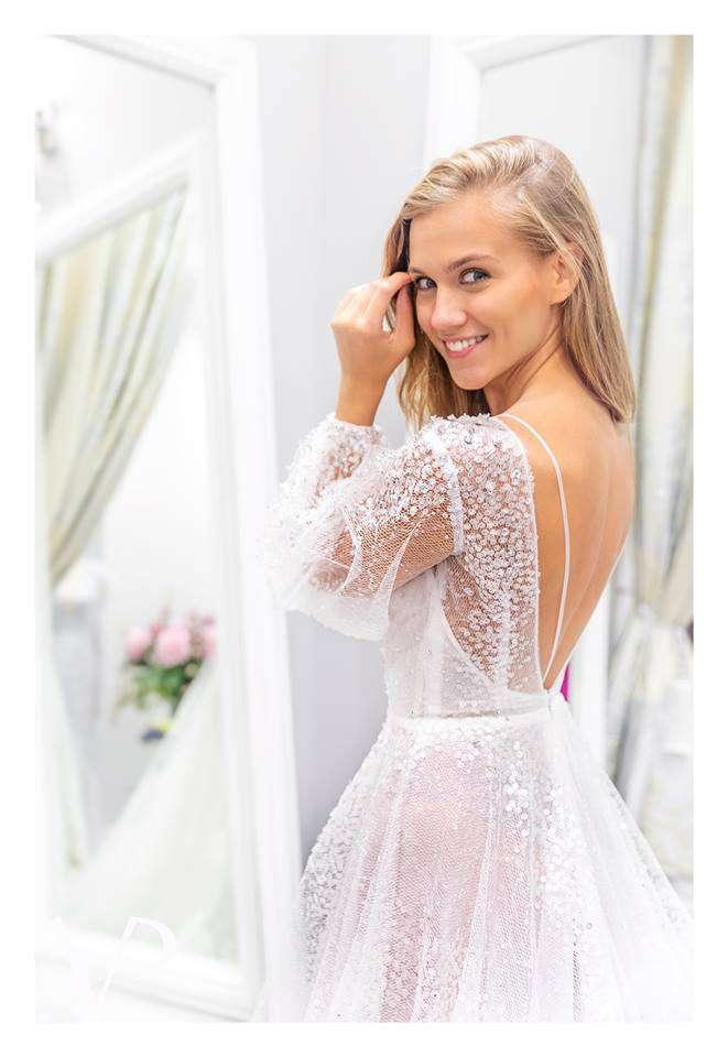 Viola Piekut zaprojektowała suknie ślubne Agnieszki Kaczorowskiej (fot. Jastrząb Post Exclusive)