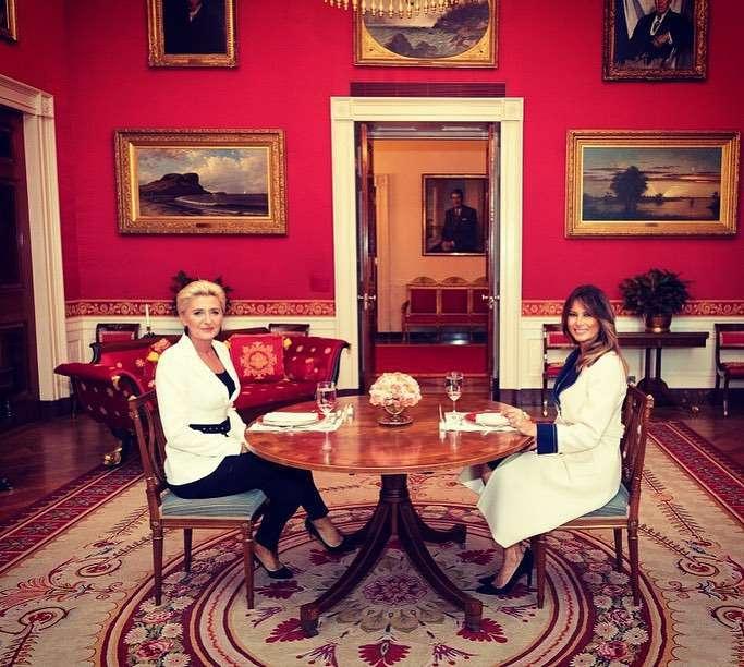 Melania Trump pokazała zdjęcie z Agatą Dudą