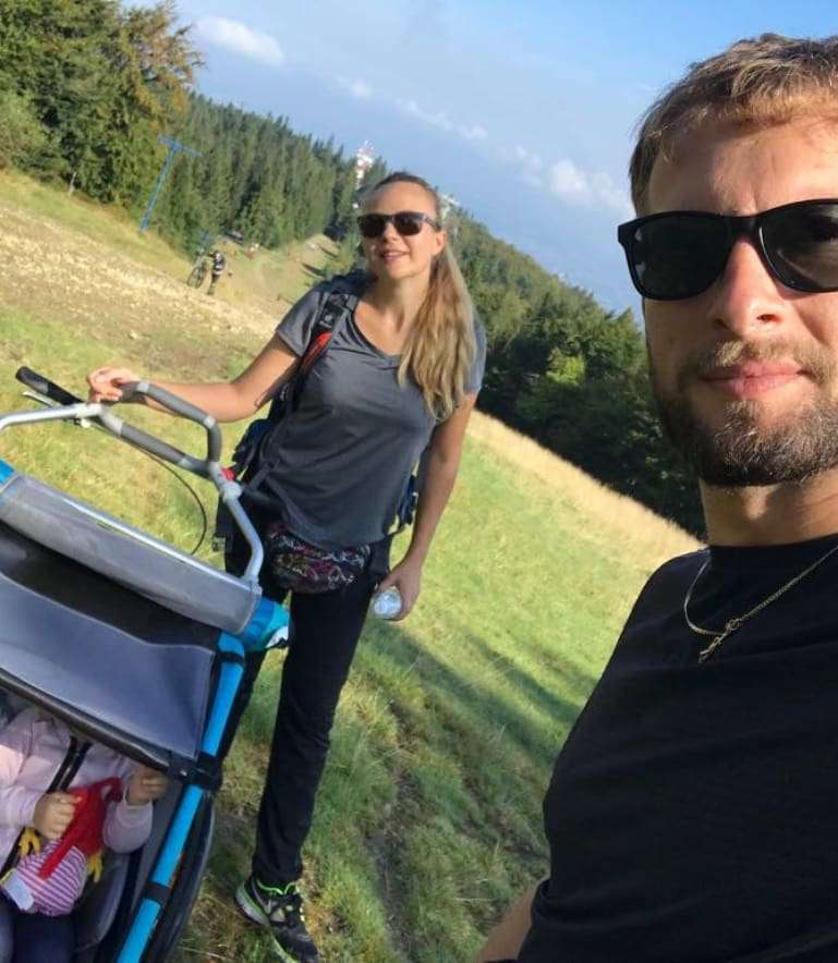 Anna Guzik z mężem i dziećmi odpoczywała w górach