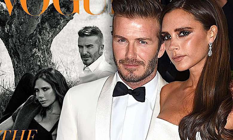 David Victoria Beckham Vogue październik 2018 okładka