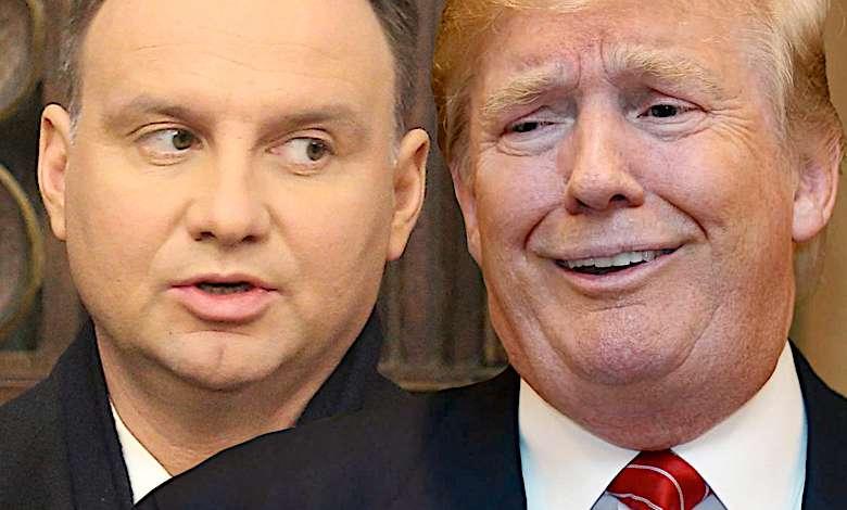Andrzej Duda i Donald Trump wpadka