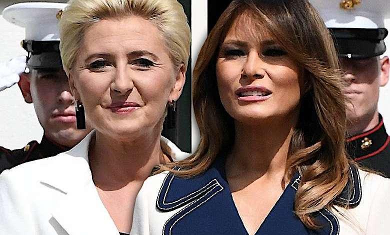 Agata Duda i Melania Trump na spotkaniu w USA