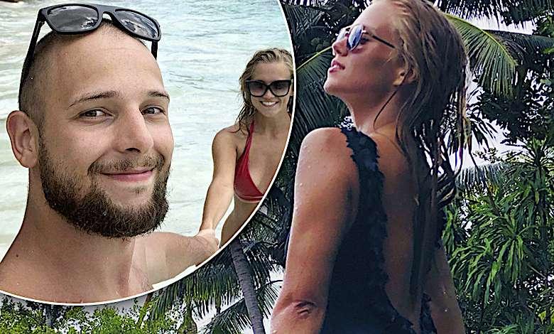 Szczupluteńka Agnieszka Kaczorowska w zmysłowym bikini paraduje po boskiej plaży na Szeszelach! Jej rozanielony mąż pęka z dumy!