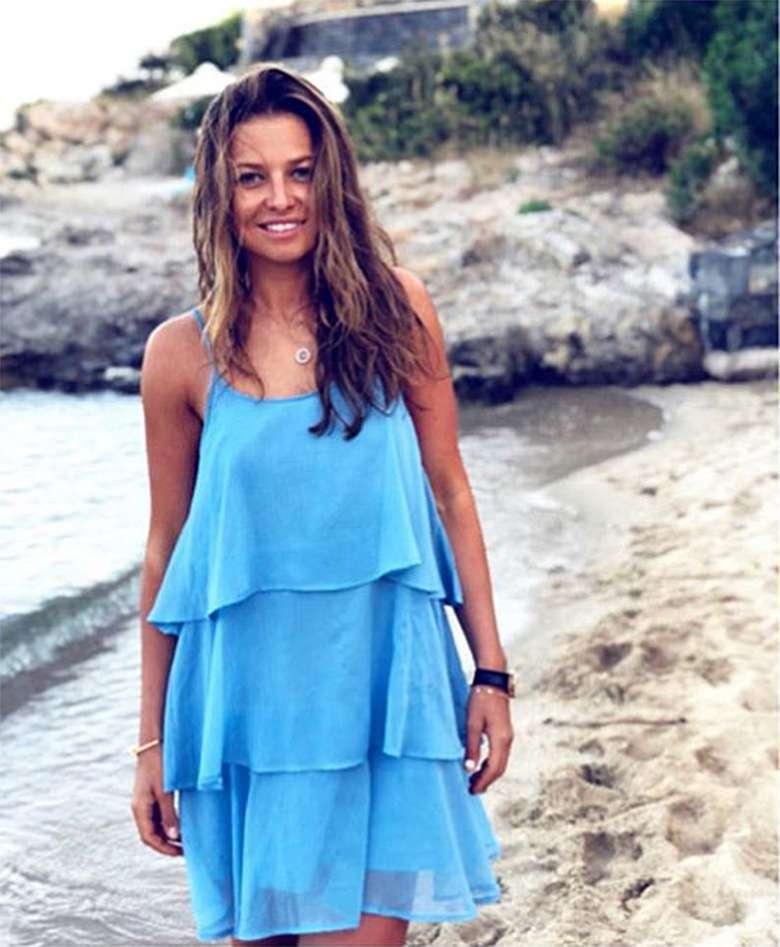 Anna Lewandowska w sukience z Mango