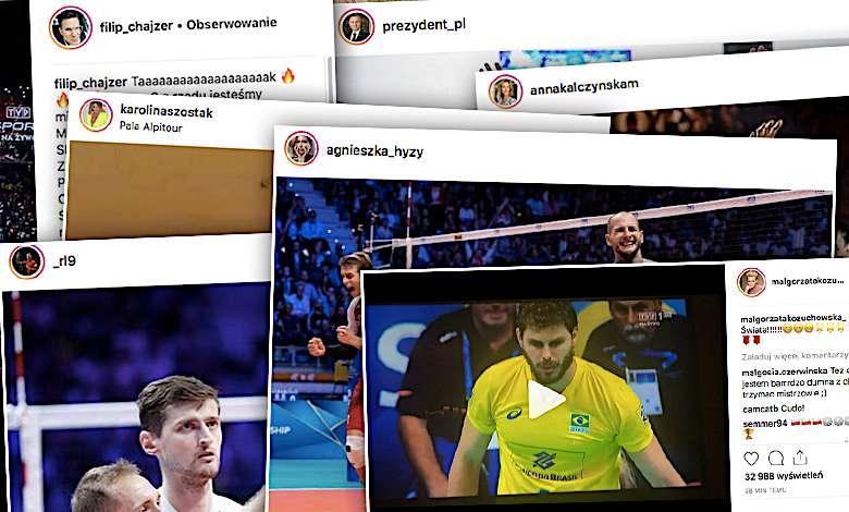 Polska Mistrzem świata w siatkówce. Reakcje gwiazd