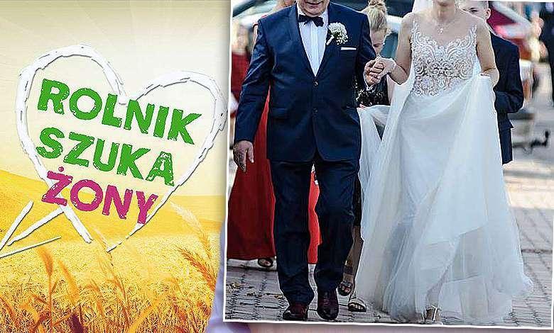 """Przystojniak z """"Rolnik szuka żony"""" wziął ślub z młodszą o 32 lata pięknością! Zdjęcie państwa młodych jest wręcz urocze!"""