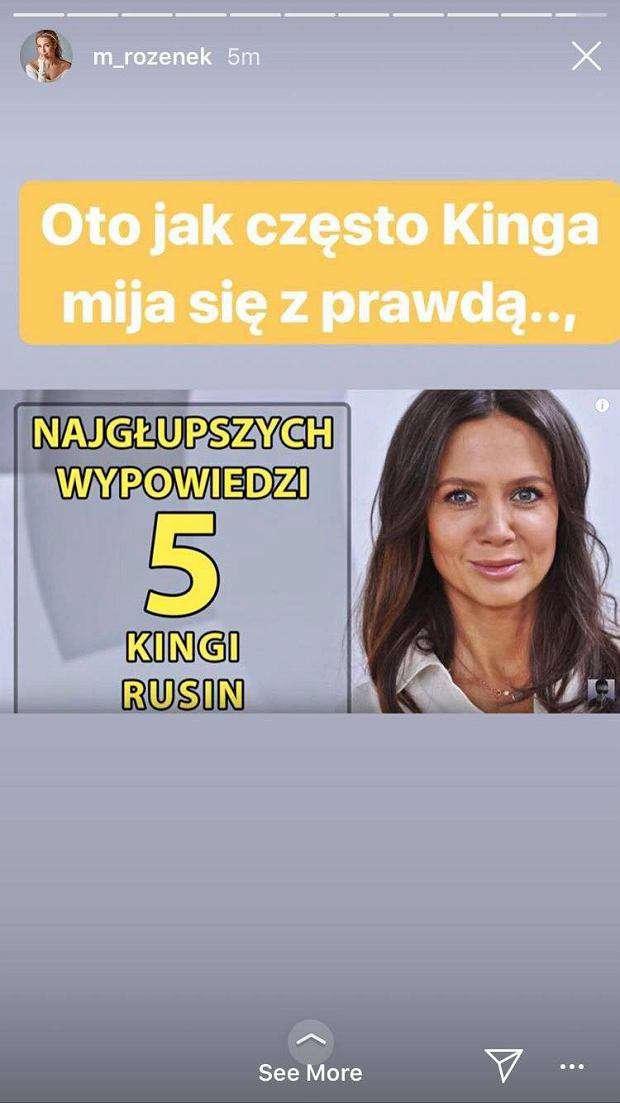 Małgorzata Rozenek wbiła szpilę Kindze Rusin