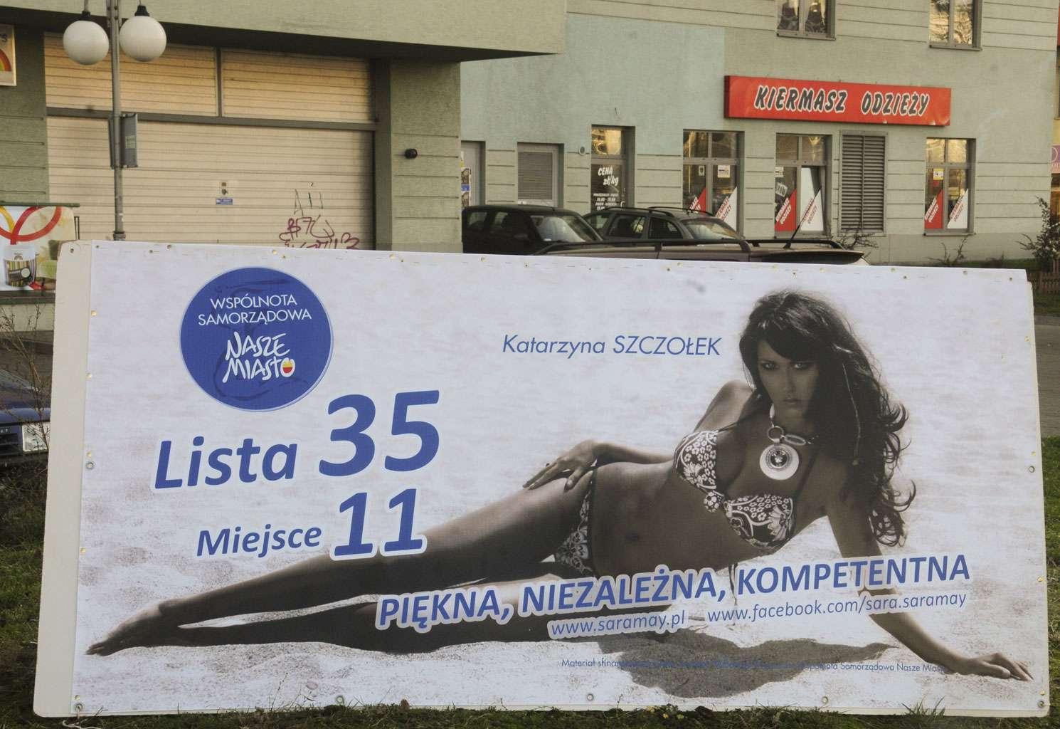Katarzyna Szczołek (Sara May) – plakat wyborczy
