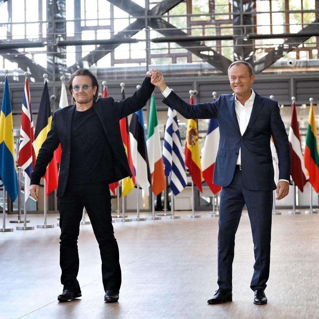 Donald Tusk spotkał się w Brukseli z BONO