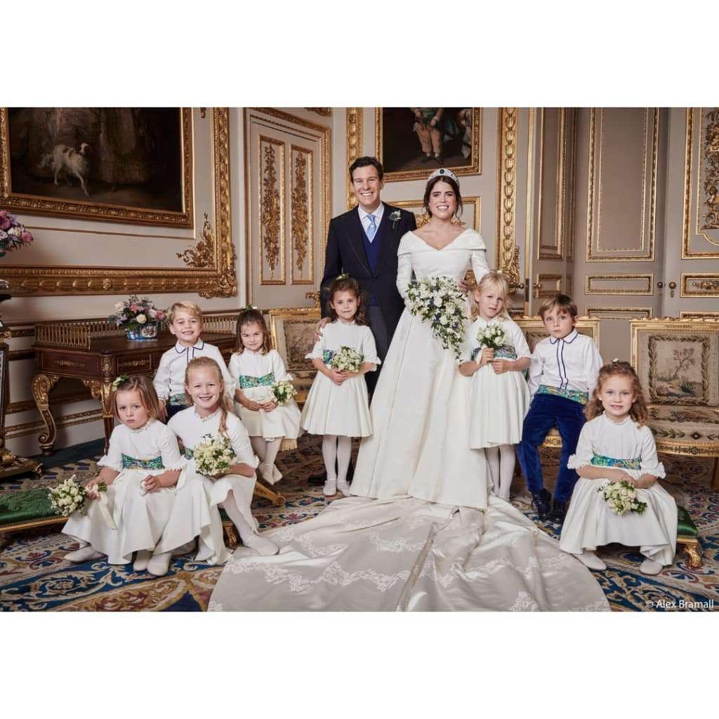 Księżniczka Eugenia i Jack Brooksbank na ślubnych portretach