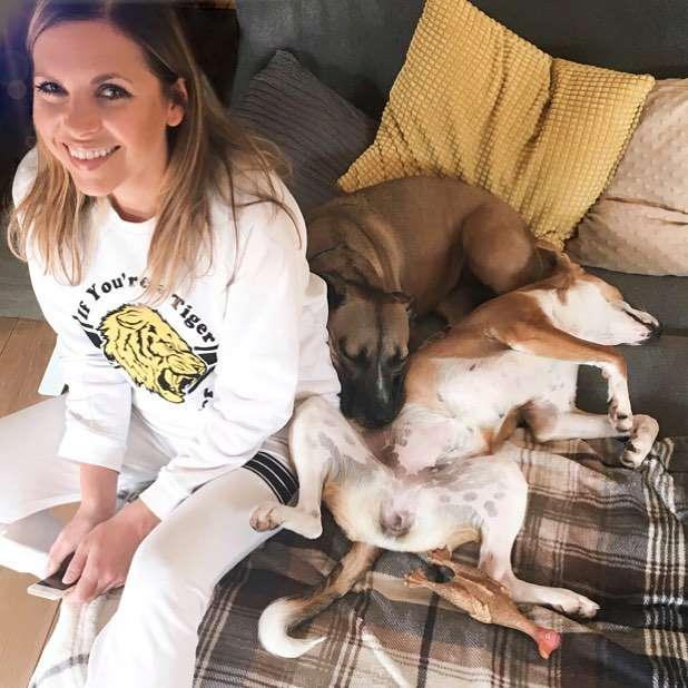 Aleksandra Kwaśniewska z psami