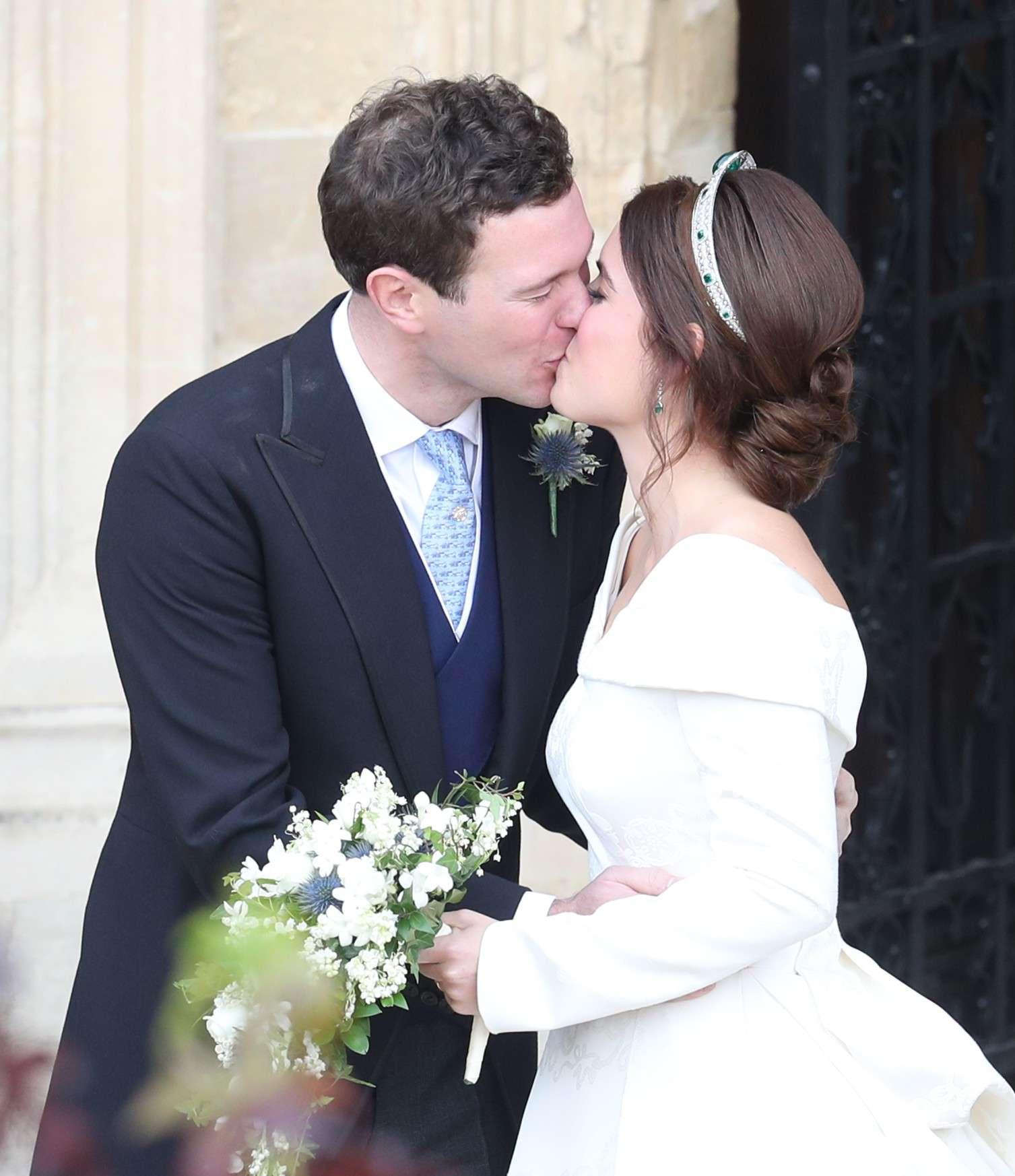 Pocałunek księżniczki Eugenii i Jacka Brooksbanka