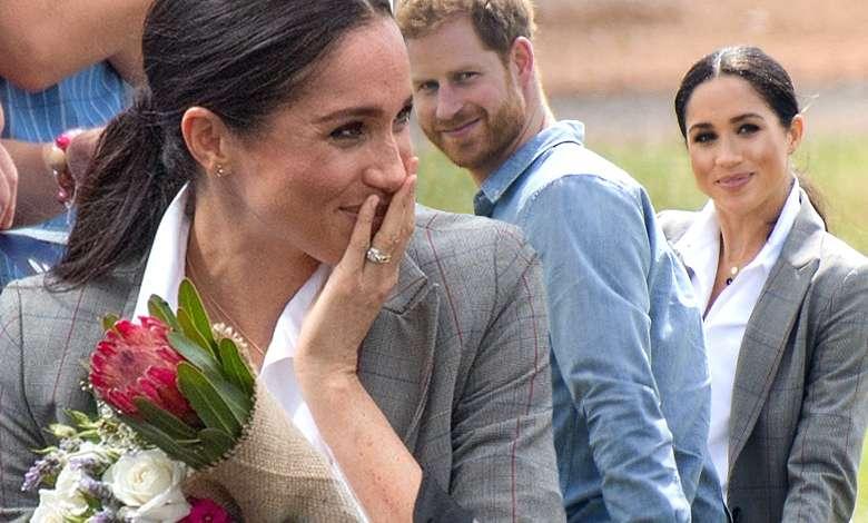 Meghan Markle i książę Harry na spotkaniu z dziećmi w Dubho