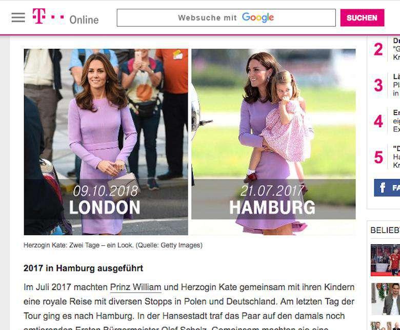 Niemiecki portal o stylizacji księżnej Kate