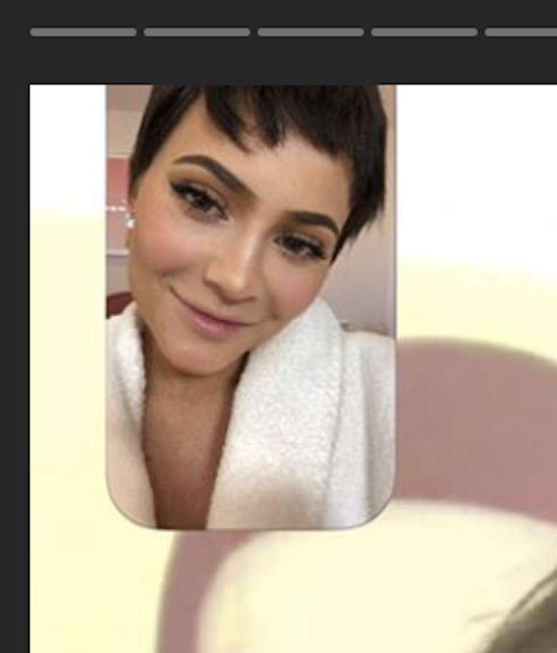 Kylie Jenner w krótkich włosach na Kris