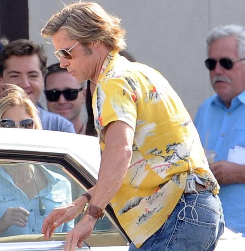 Brad Pitt z nową fryzurą