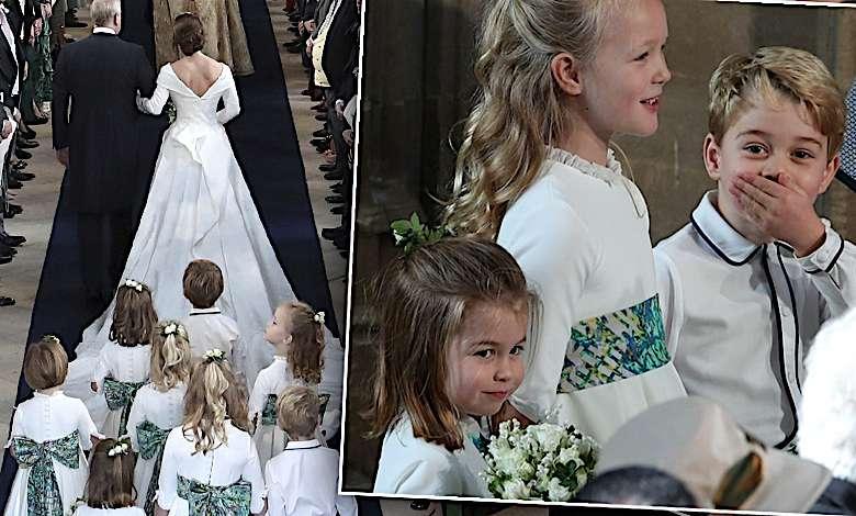 Dzieci księżnej Kate na ślubie księżniczki Eugenii