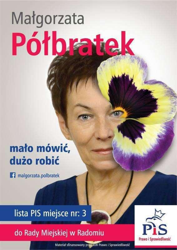 Małgorzata Półbratek – plakat wyborczy
