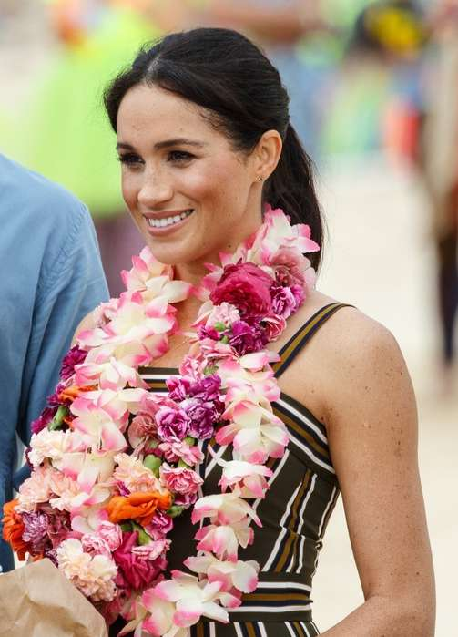 Meghan Markle w ciąży i książę Harry na plaży Bondi w Sydney