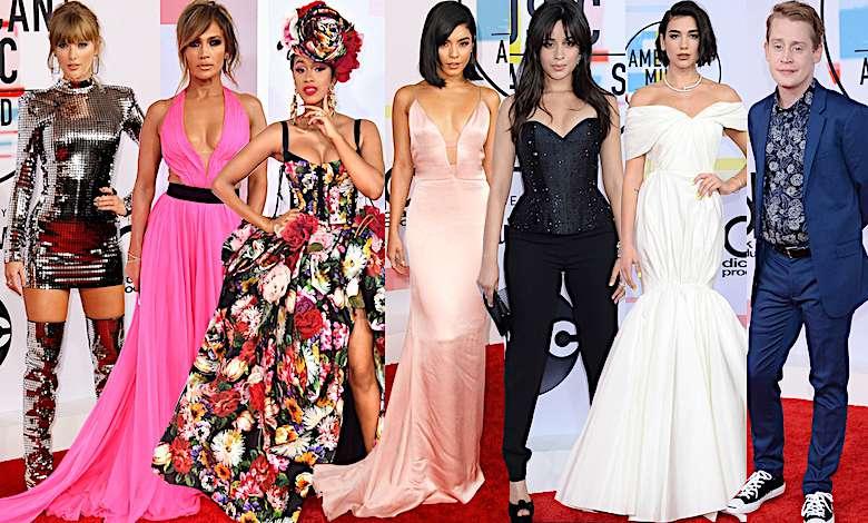 American Music Awards 2018 kreacje, czerwony dywan, wyniki, zdjęcia, gwiazdy, laureaci