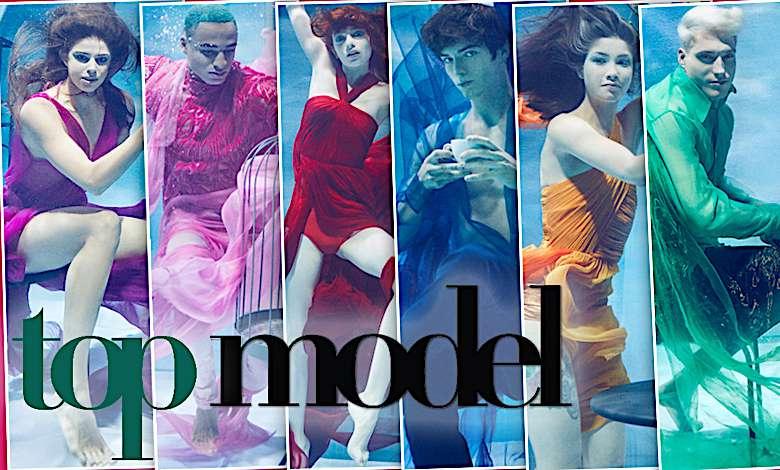 Top Model podwodna sesja