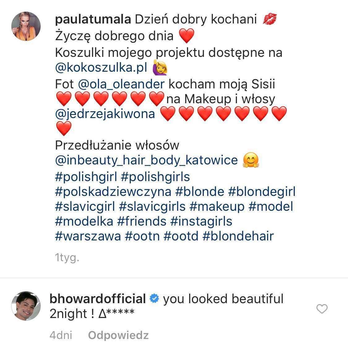 Brandon Howard komentuje zdjęcia Pauli Tumali