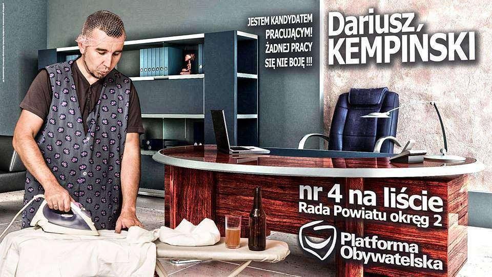 Dariusz Kempiński – plakat wyborczy