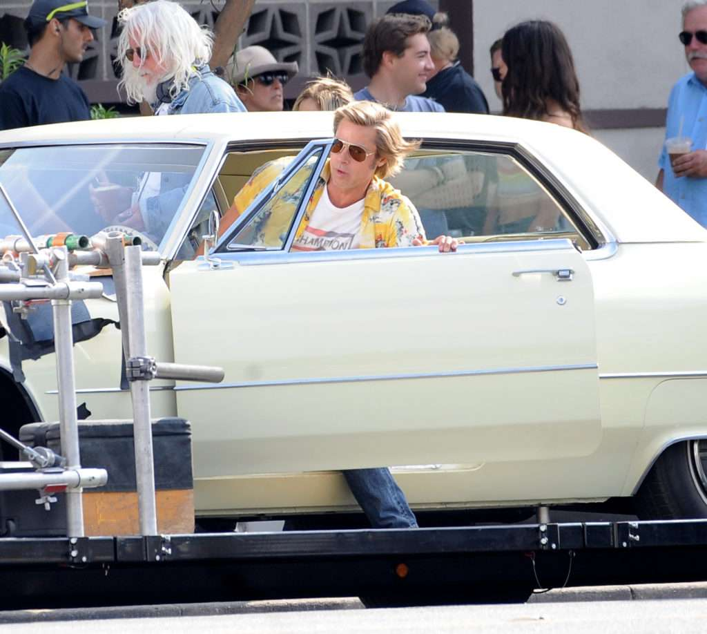 Brad Pitt na planie filmu Once Upon A Time In Hollywood