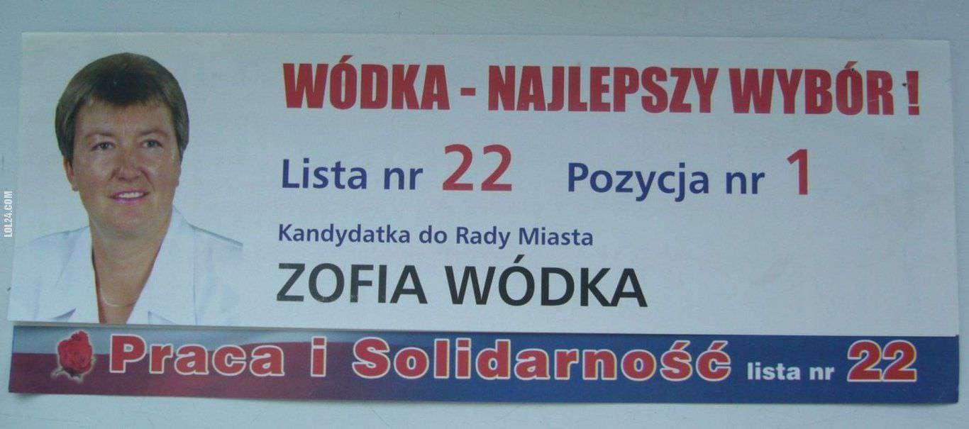 Zofia Wódka – plakat wyborczy