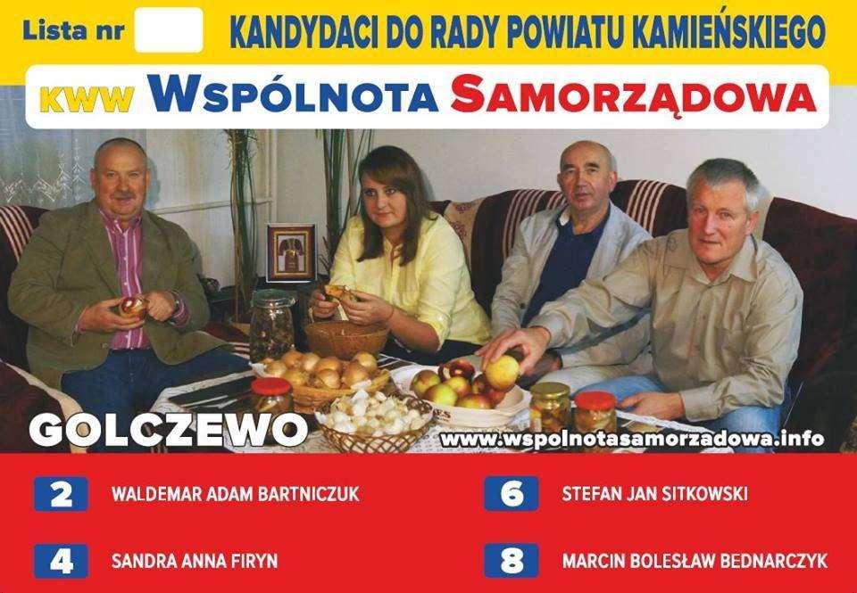 Wspólnota samorządowa z Golczewa – plakat wyborczy