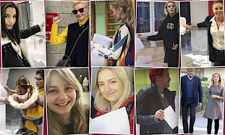 NOWE ZDJĘCIA! Gwiazdy na wyborach samorządowych: Kożuchowska, Wieniawa, Rubik, Socha, Woźniak-Starak, Tusk