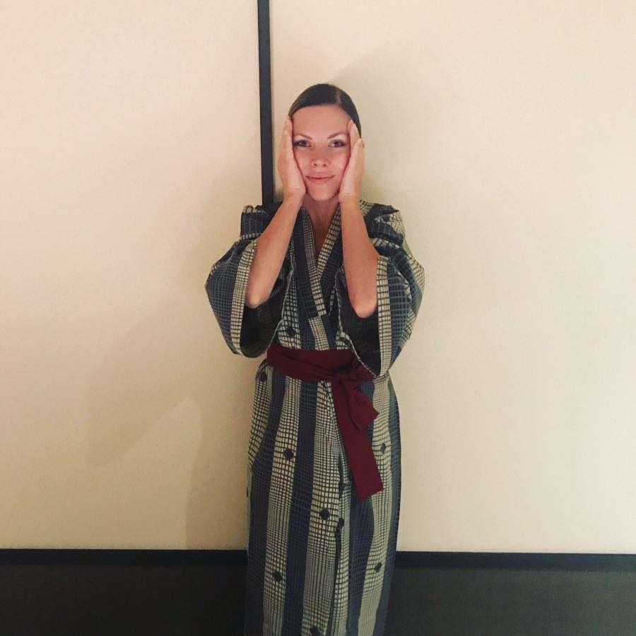 Ola Kwaśniewska w japońskim kimonie