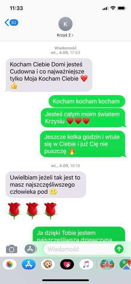 Krzysztof Rutkowski i Dominika Zasiewska wymieniali gorące SMS-y