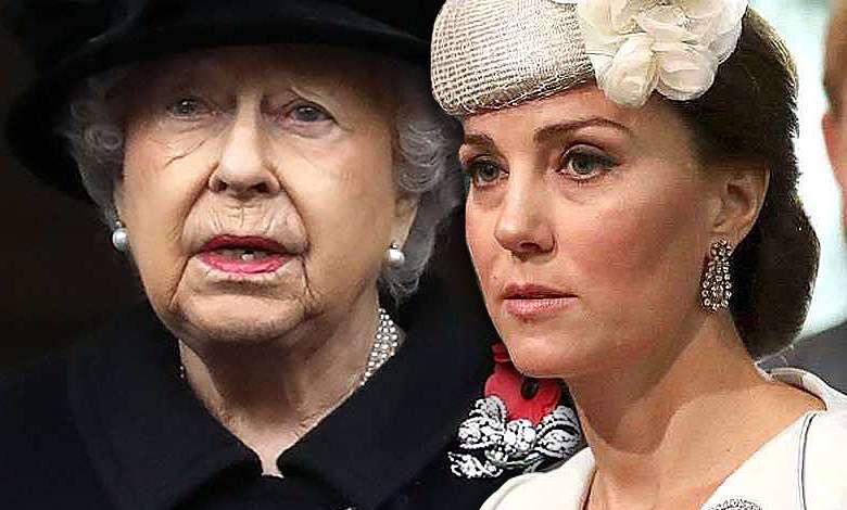 Księżna Kate królowa Elżbieta II