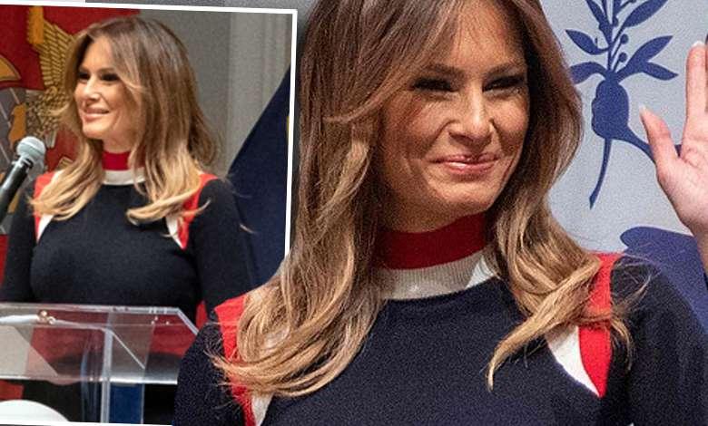 Melania Trump czerwony krzyż