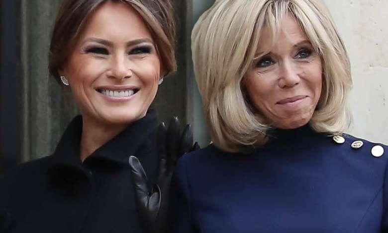 Melania Trump i Brigitte Macron spotkały się w pałacu prezydenckim