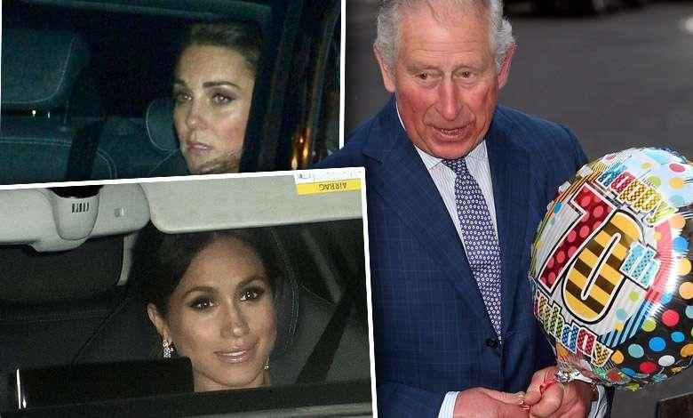 Księżna Meghan i księżna Kate wystrojone w diamenty na przyjęciu urodzinowym księcia Karola. Były wisienkami na długiej liście gości!