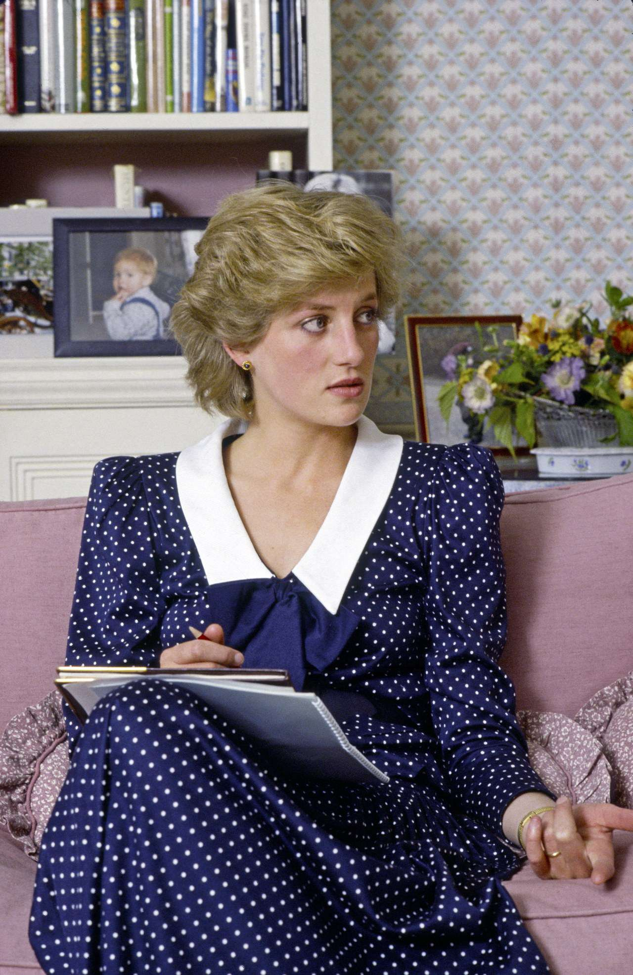 Księżna Diana w sukience w grochy