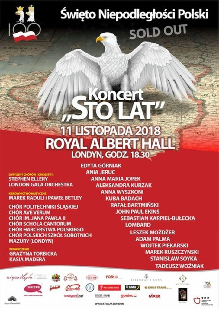 Koncert Sto Lat w Royal Albert Hall