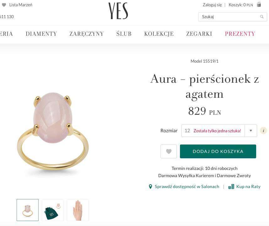 YES – pierścionek zaręczynowy Aura Kasi Tusk