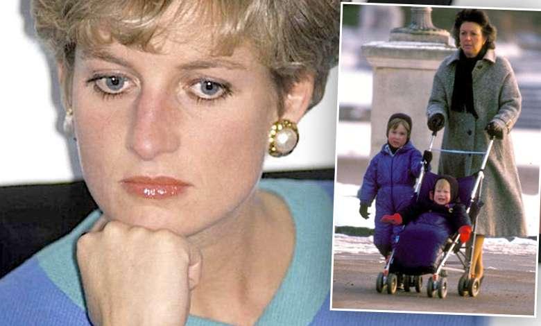 Księżna Diana, niania księcia Williama