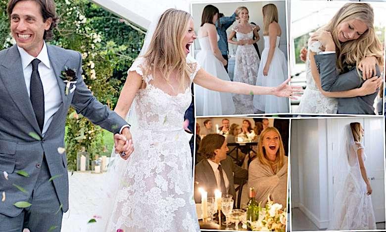 Gwyneth Paltrow ślub dużo zdjęć