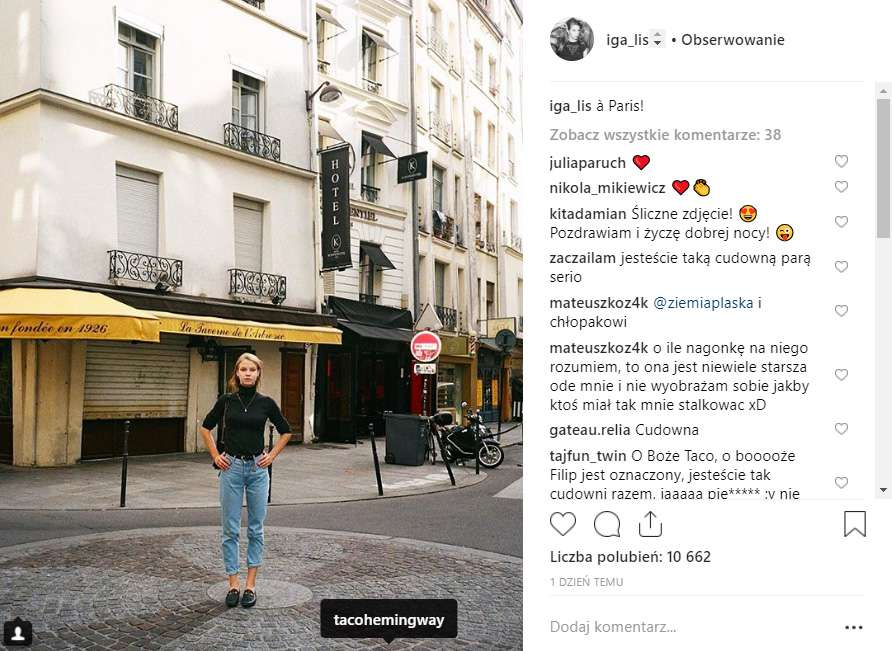Iga Lis i Taco Hemingway w Paryżu