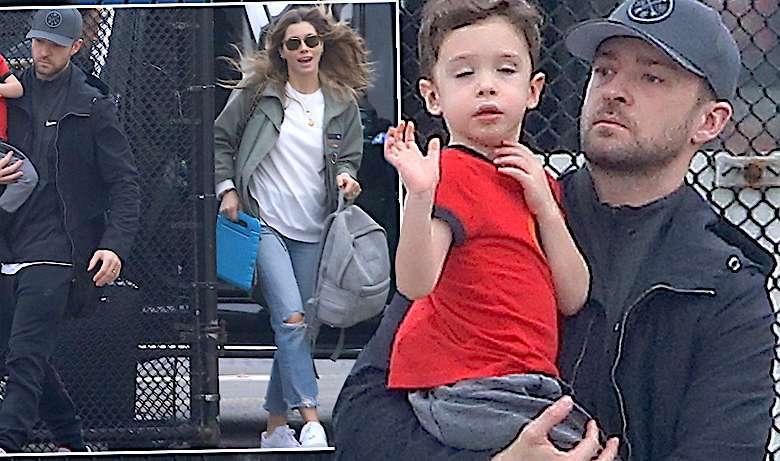 Justin Timberlake z rodziną