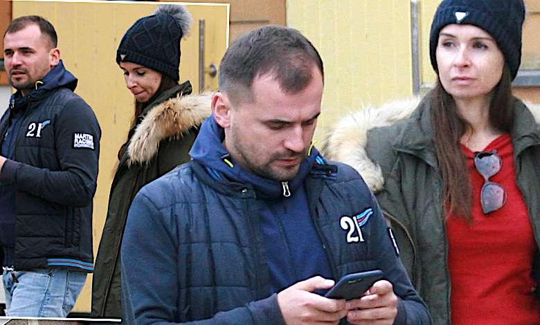 Marta Kaczyńska i Marcin Dubieiecki na zawodach córki