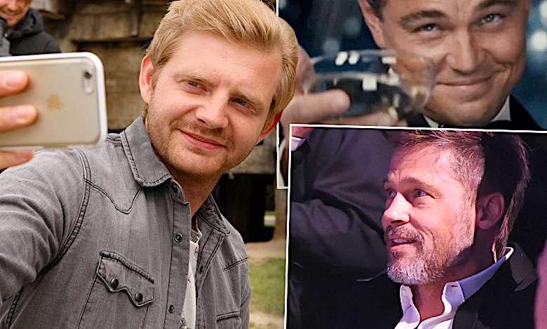 Rafał Zawierucha, Leonardo DiCaprio i Brad Pitt