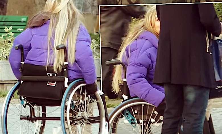 Mamiko na wózku inwalidzkim w programie Życie na wózku