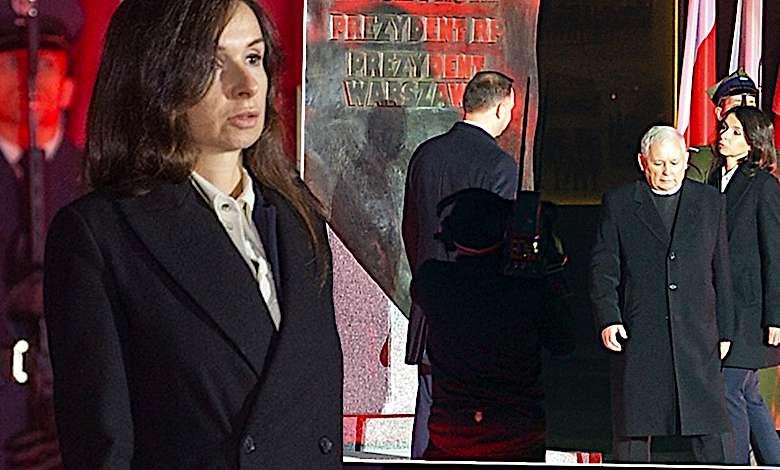 Marta Kaczyńska z rodziną na odsłonięciu pomnika Lecha Kaczyńskiego