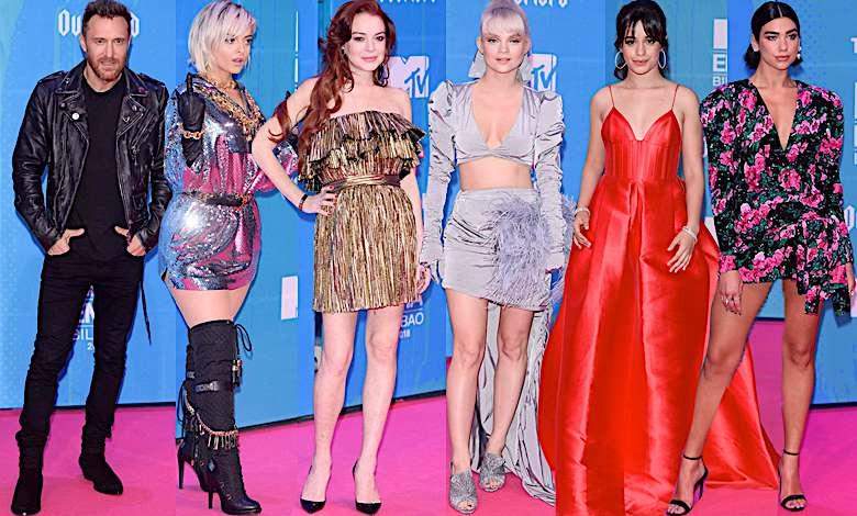 MTV EMA 2018 Bilbao kreacje stylizacje czerwony dywan