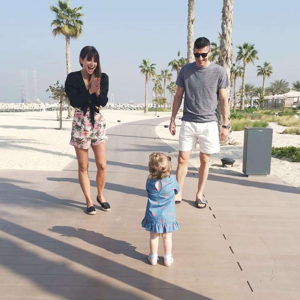 Anna Lewandowska, Robert Lewandowski i Klara Lewandowska na wakacjach